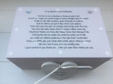 Shabby Personalised Chic Mother & Father Of The Bride Wedding Gift LARGE Box - 252731800329